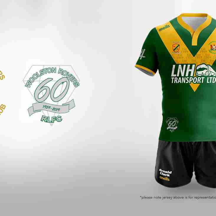 WOOLSTON ROVERS 60th ANNIVERSARY SHIRT REVEALED