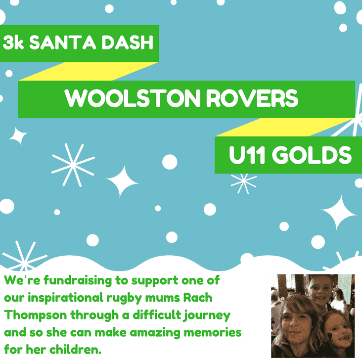 WOOLSTON ROVERS UNDER 11s GOLDS 3K FUNDRAISING SANTA DASH