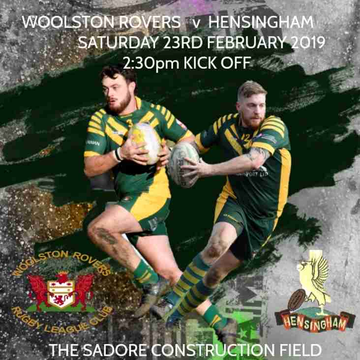 Woolston Rovers v Hensingham - Saturday 23rd February 2019