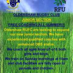 Free coaching for juniors all Summer!