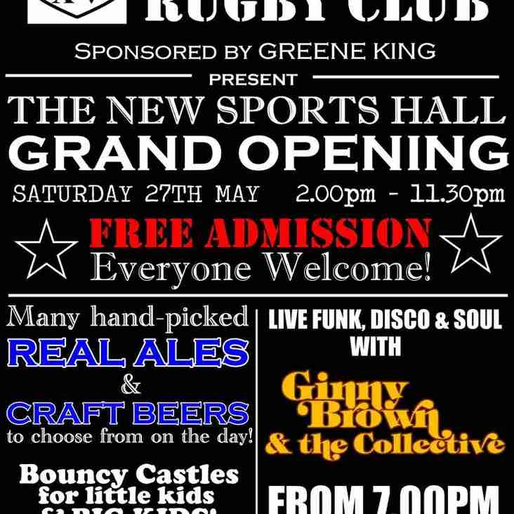 Mansfield Rugby Club - Sports Hall Grand Opening