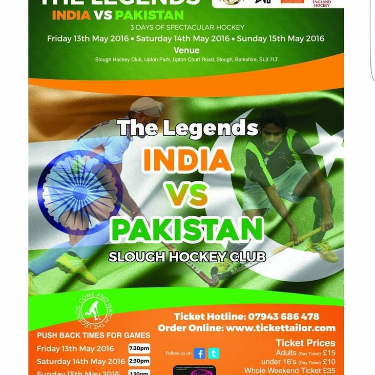Watch &quot;The Legends&quot; series at Slough HC featuring India vs Pakistan<