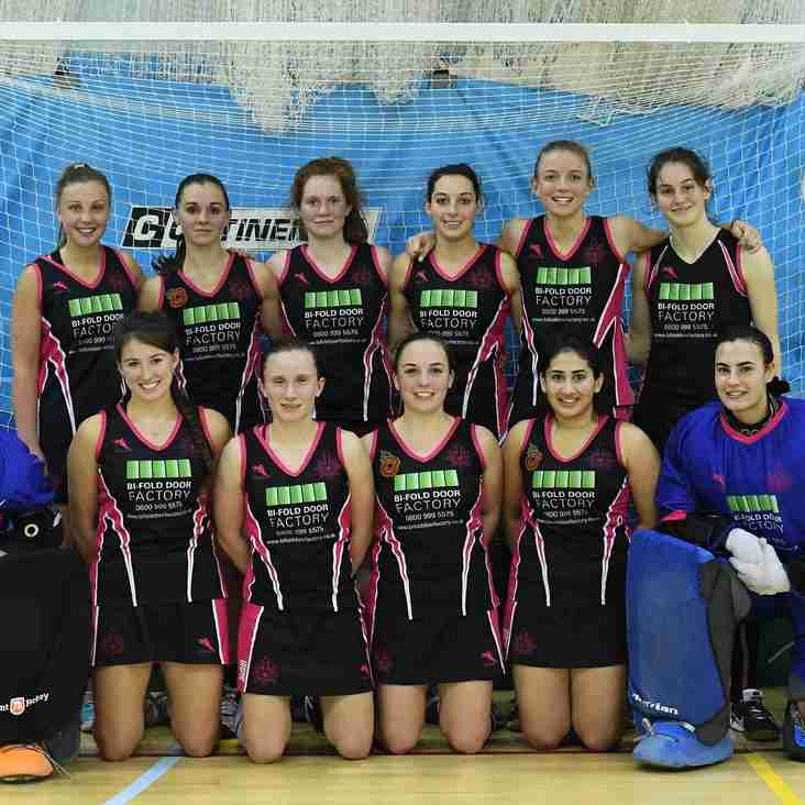 Pink and Blacks Win Women's National Indoor League....