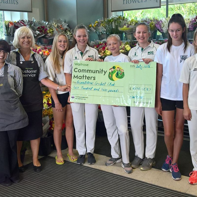 Broadstone Girls celebrate Waitrose grant