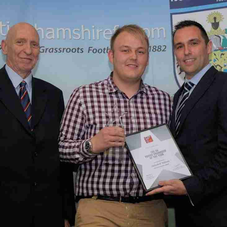 Mitch Wilson - Notts FA Winner Of The FA Young Volunteer of the Year 2016