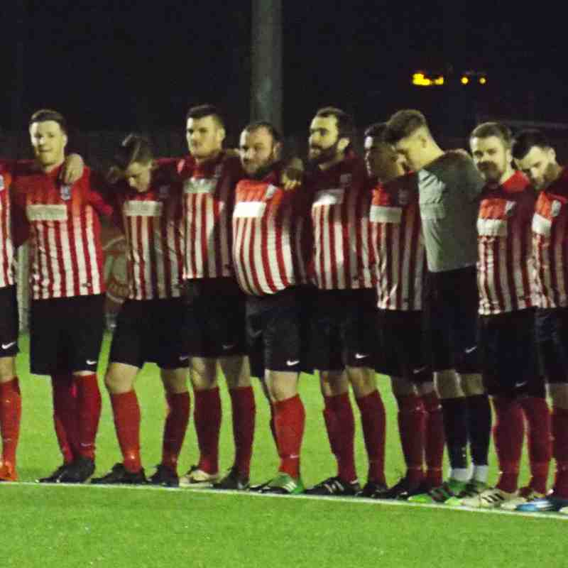 A minute's silence was held before the game...