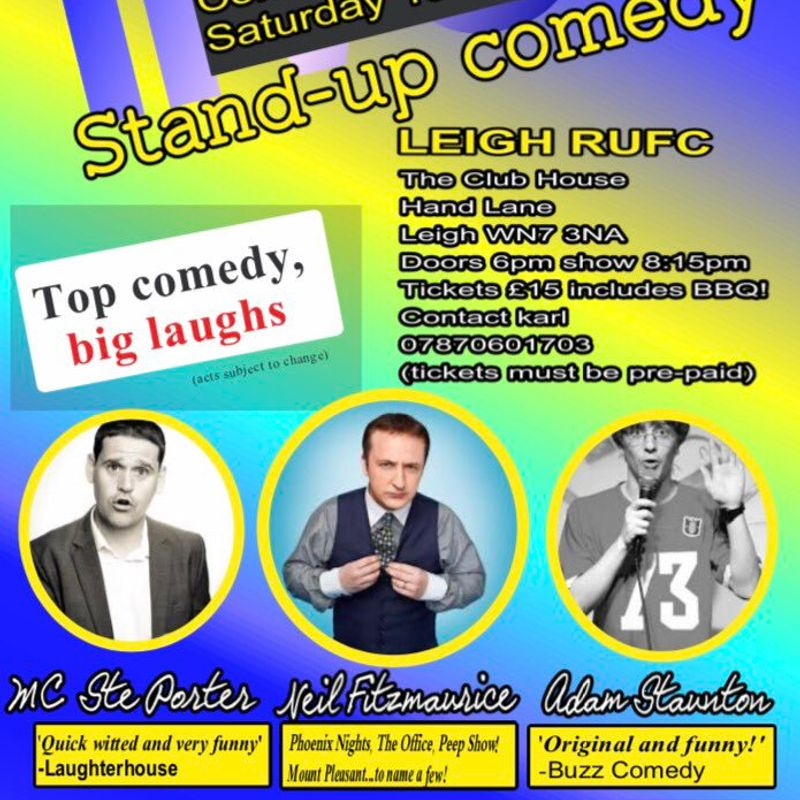 Hit & Run comedy returns to Leigh RUFC on Saturday 19th August.