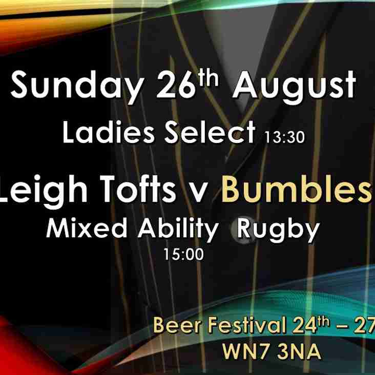 LeighRUFC  welcome back the Bumbles