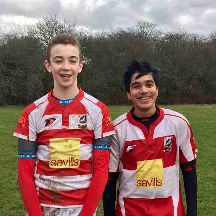 Joe & Kalani U14s Men of the Match