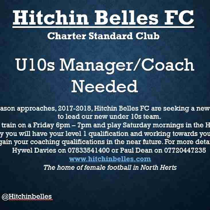 Under 10's Coach wanted!
