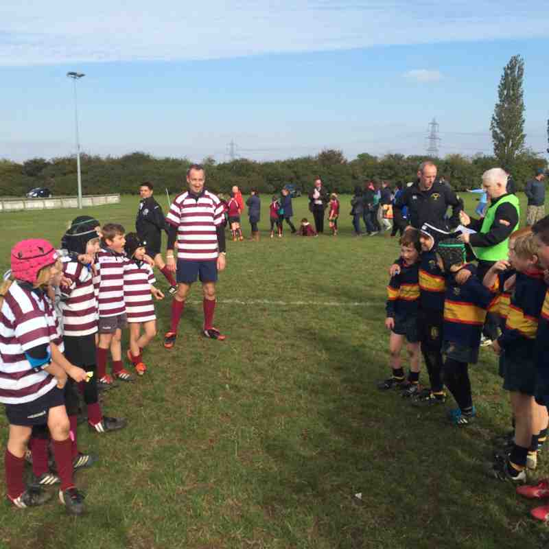 Welwyn U9's North Herts Contact 11 Oct 2015