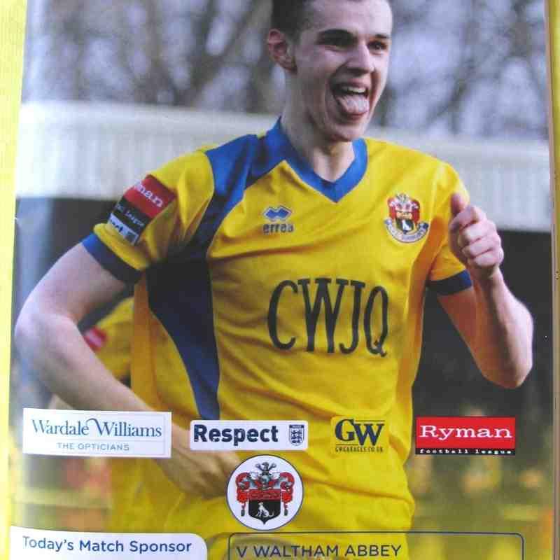 AFC Sudbury 0 Waltham Abbey 2