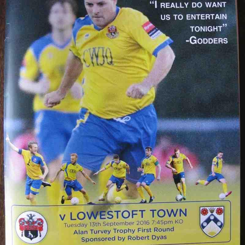 AFC Sudbury 2 Lowestoft Town 1 Robert Dyas Cup