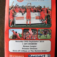 Harlow Town 1 AFC Sudbury 3