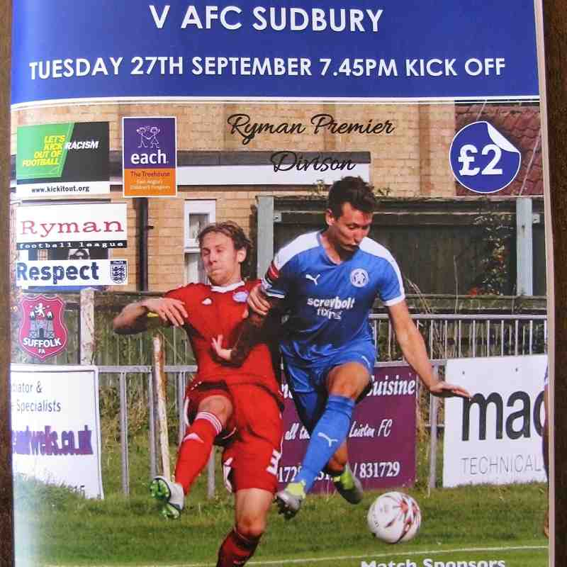 Leiston 2 AFC Sudbury 1