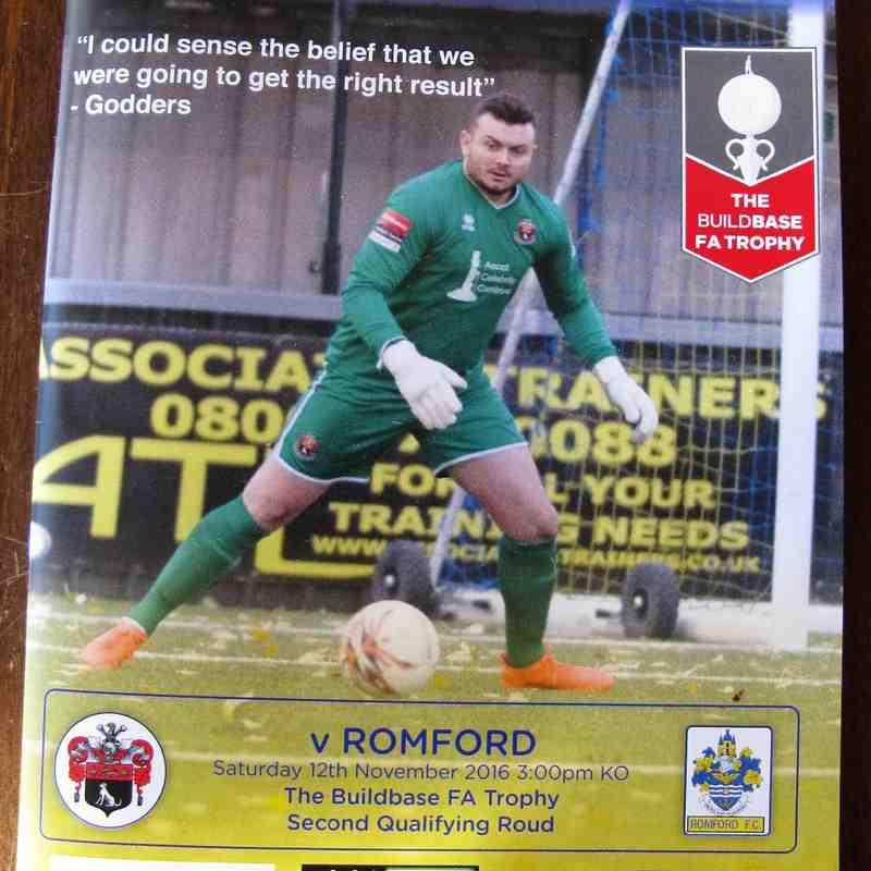 AFC Sudbury 4 Romford 0 FA Trophy