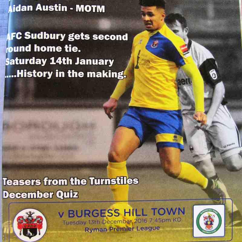 AFC Sudbury 3 Burgess Hill Town 0