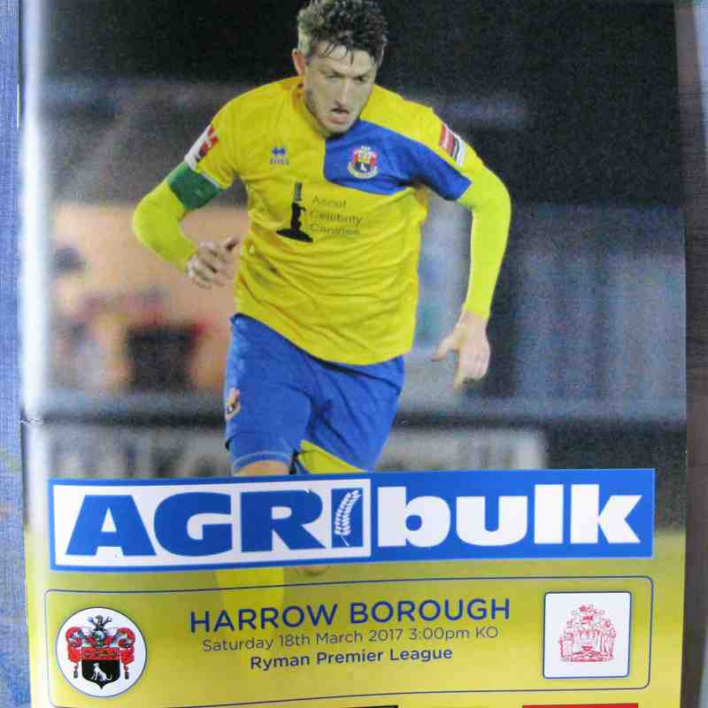 AFC Sudbury 1 Harrow Borough 3