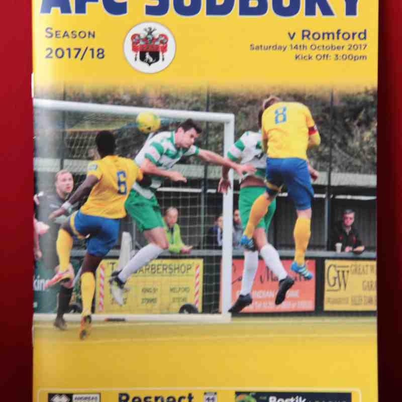 AFC Sudbury 2 Romford 1