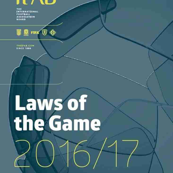 "IFAB Releases Interactive version of ""Laws of the Game 2016/17"""