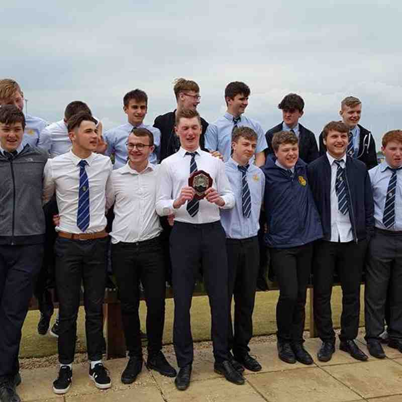 Under 16's victorious plate final against Dorchester