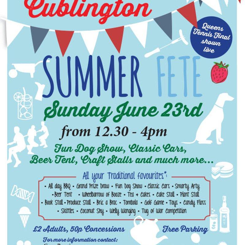 Cublington Fete 23rd June