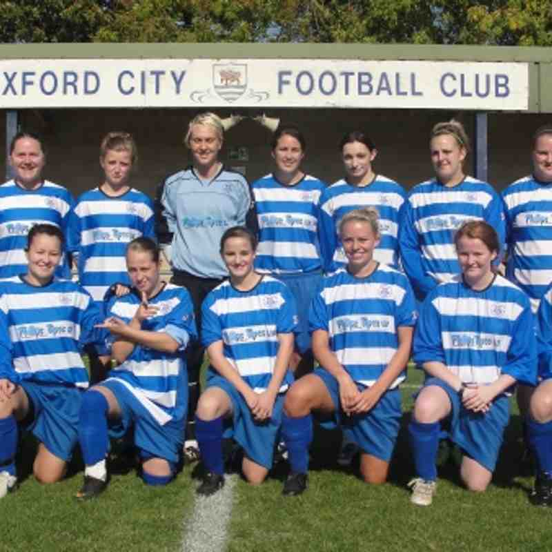 Oxford City Ladies First Team 9.11