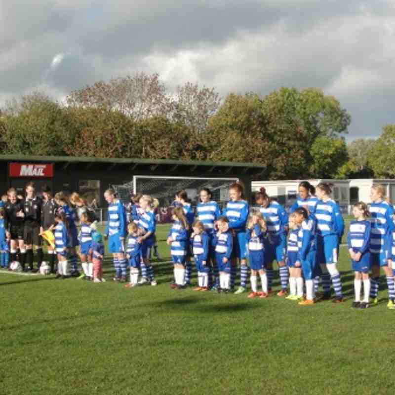 Oxford City Ladies v QPR - FA Cup mascots