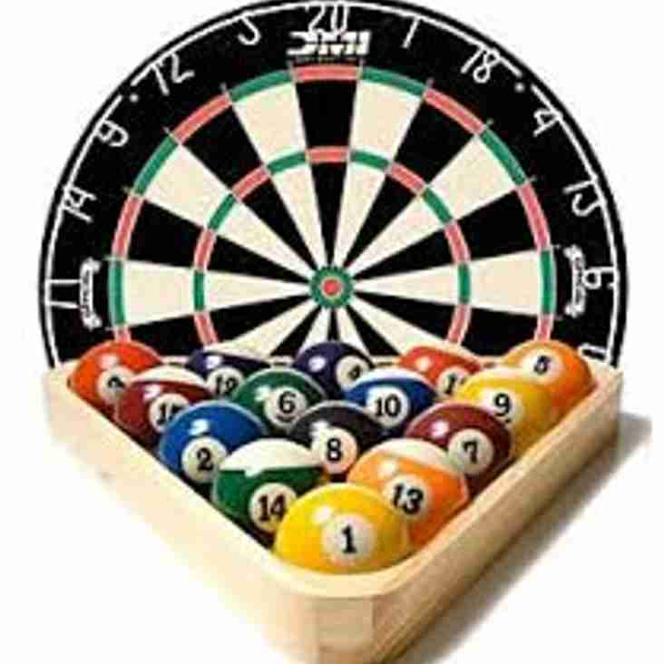 Winter Darts and Pool leagues