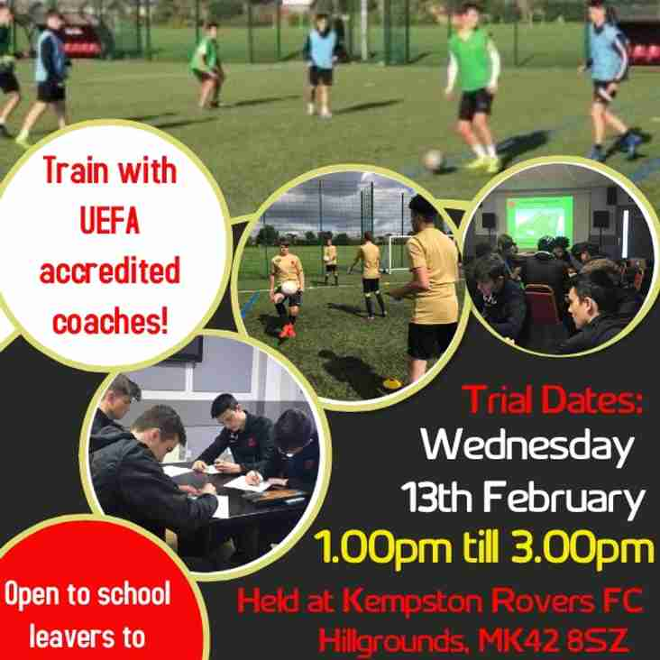 Kempston Rovers Academy Trial