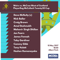 McCrea West of Scotland Begin McCulloch Twenty20 Cup Campaign