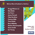 McCrea West of Scotland vs. Renfrew