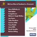 Rowan Cup: McCrea West of Scotland vs. Greenock