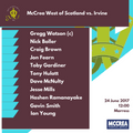 McCrea West of Scotland vs. Irvine