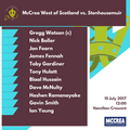 McCrea West of Scotland vs. Stenhousemuir