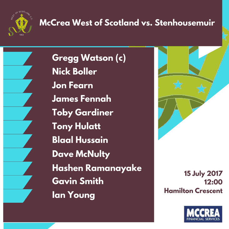 McCrea West of Scotland vs. Stenhousemuir