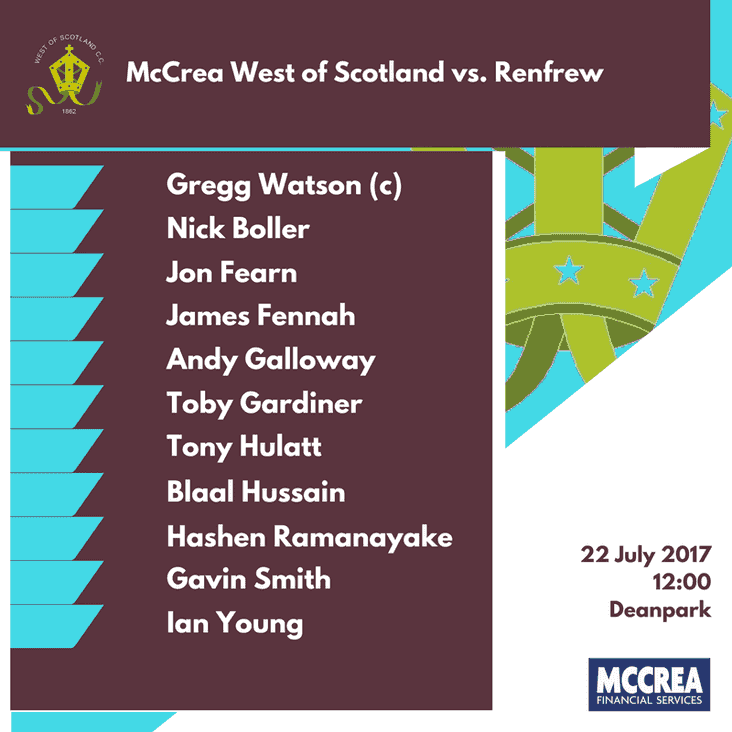 McCrea West of Scotland vs. Renfrew