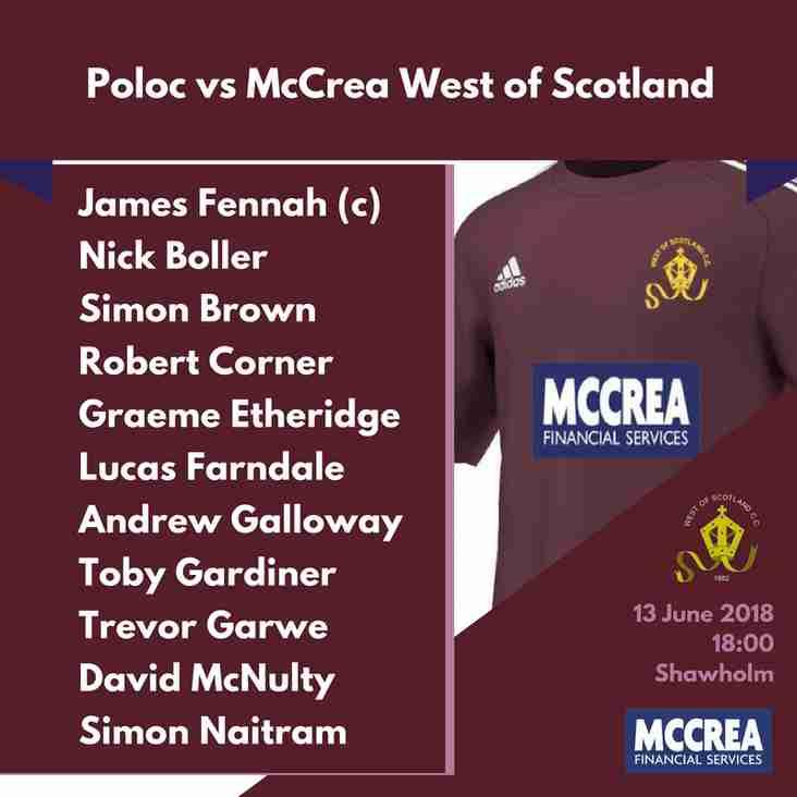 McCulloch Cup T20: Poloc vs McCrea West of Scotland