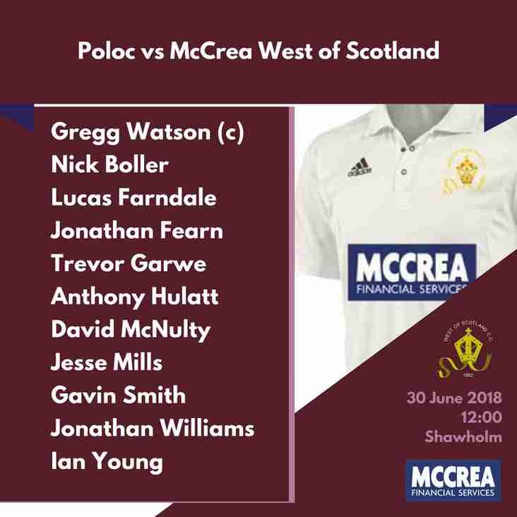 Premier League: Poloc vs McCrea West of Scotland