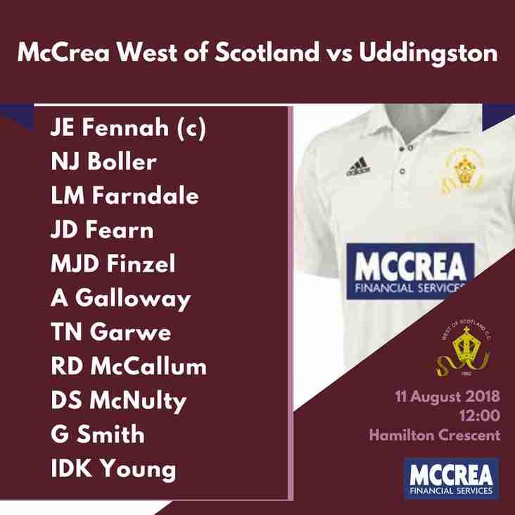 Premier League: McCrea West of Scotland vs Uddingston