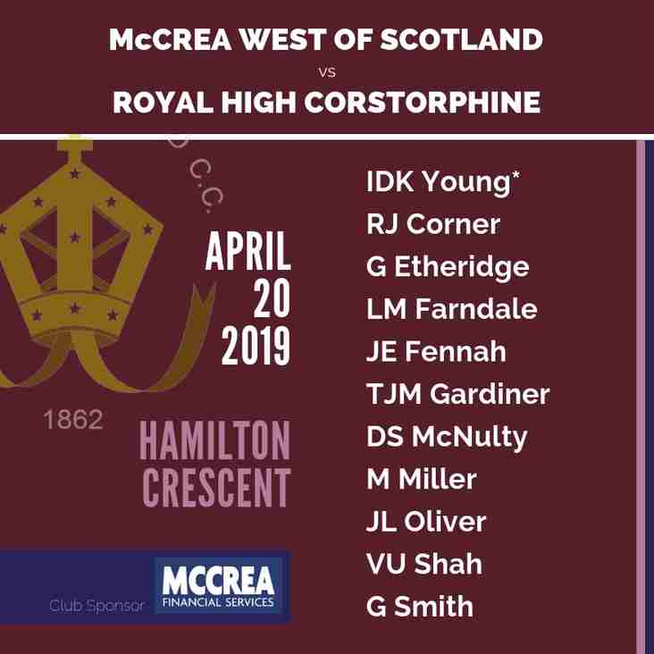 Preseason Matches for McCrea West of Scotland and Partick