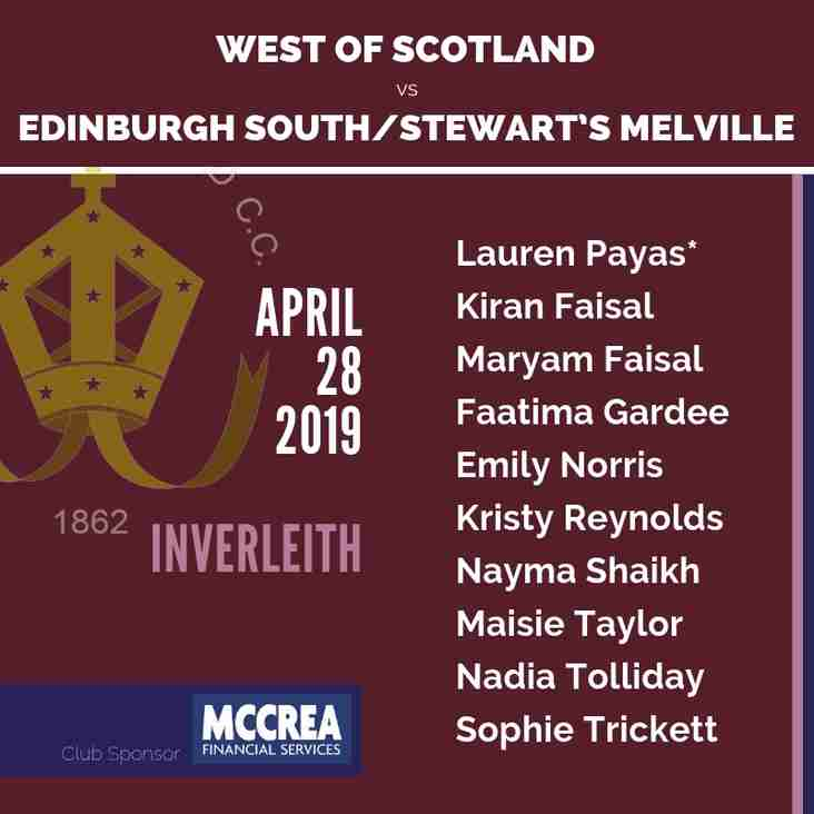 Hamilton Crescent XI and Women's XI Weekend Teams