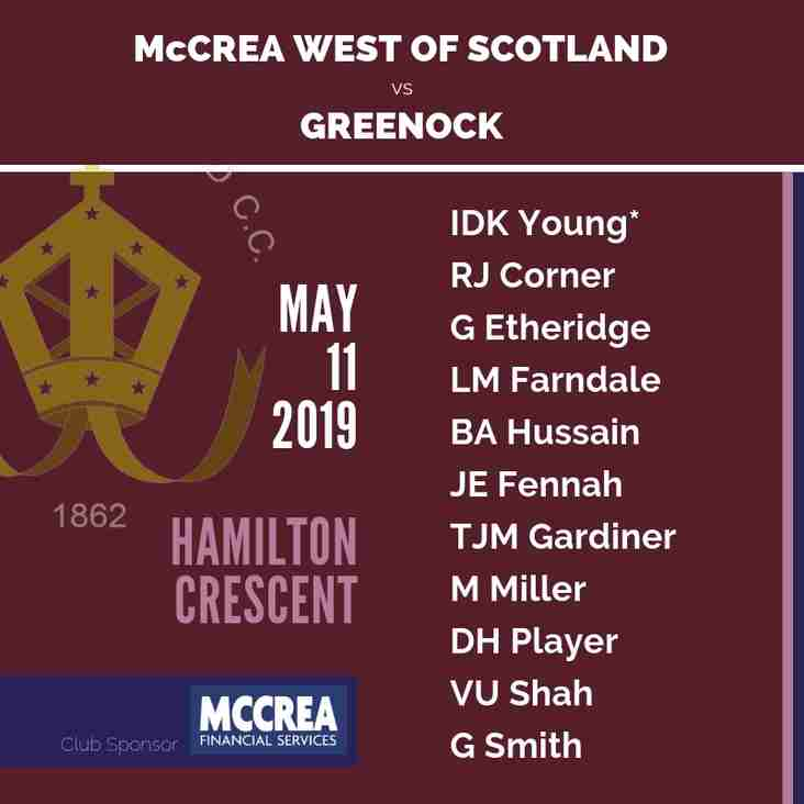 McCrea West of Scotland vs Greenock