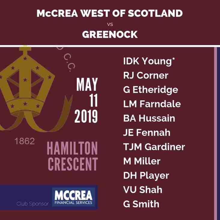 McCrea West of Scotland vs Greenock