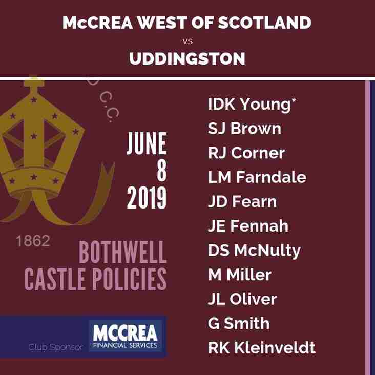 Uddingston vs McCrea West of Scotland