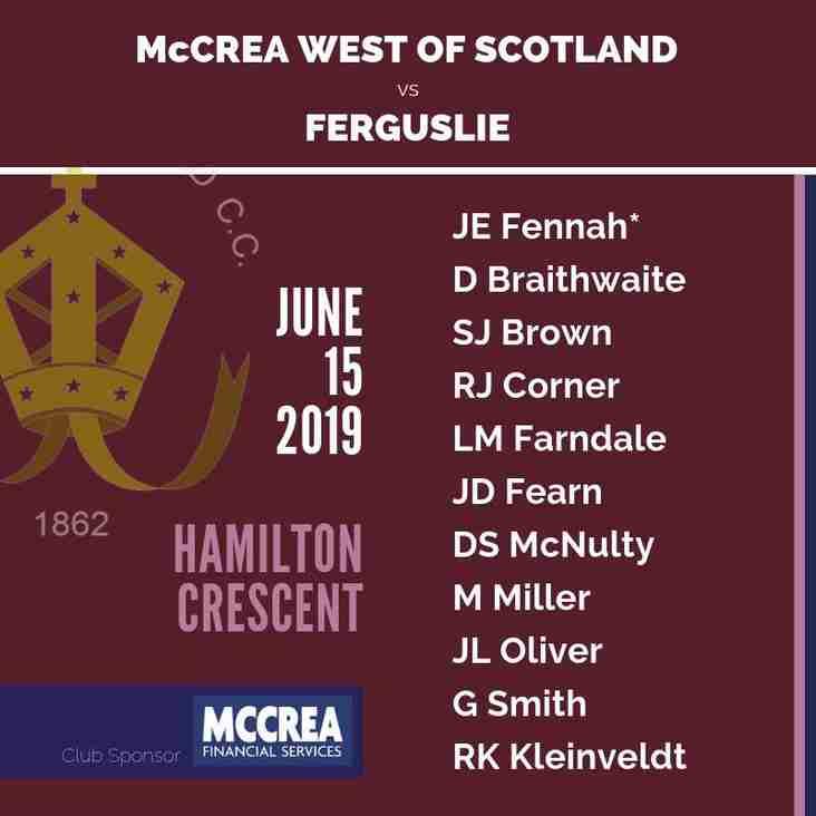 McCrea West of Scotland vs Ferguslie