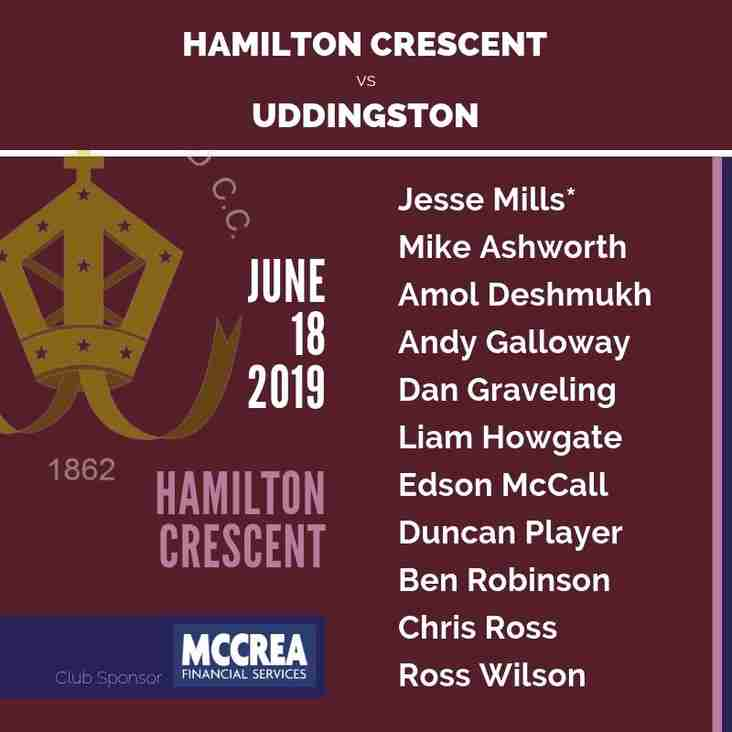 Hamilton Crescent XI Begin Midweek Division One Campaign