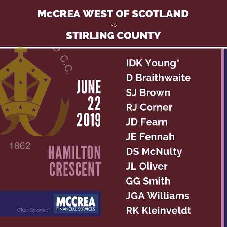McCrea West of Scotland vs Stirling County