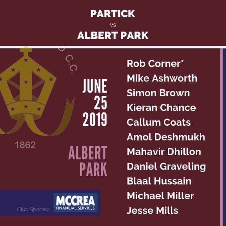 Western Cup Quarter Final: Partick vs Albert Park