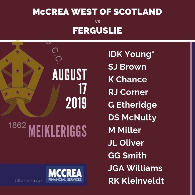 Ferguslie vs McCrea West of Scotland